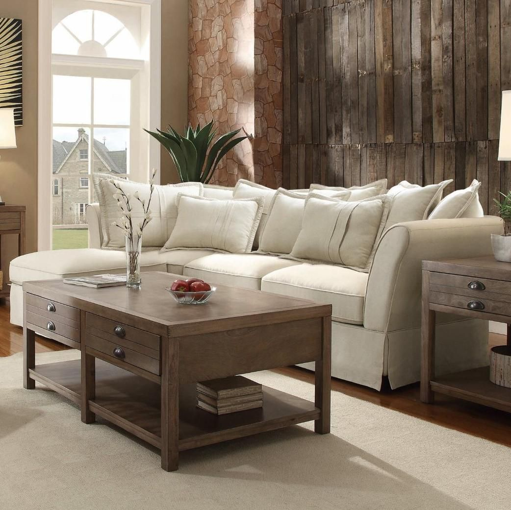 Good Coaster Karlee Cottage Styled Sectional   Coaster Fine Furniture
