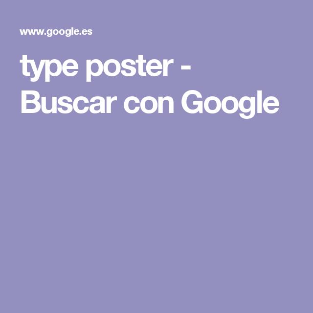 type poster - Buscar con Google