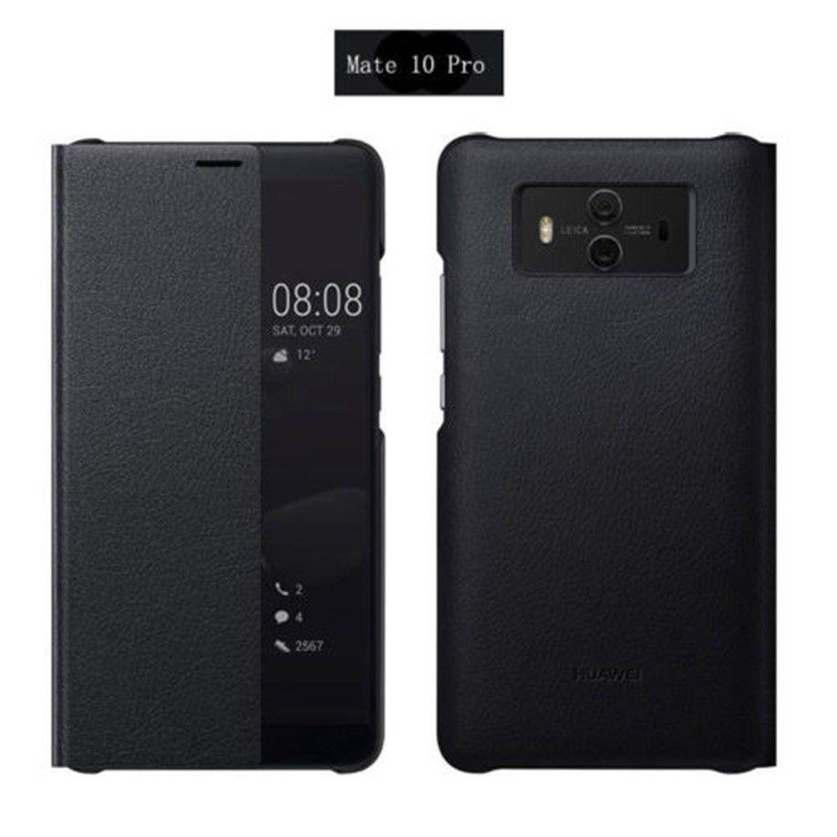 Original Huawei Mate 10 Pro Smart Cover Flip Case Tasche Schutzhulle Etui Hulle Grey Etui Handy Akku Taschen