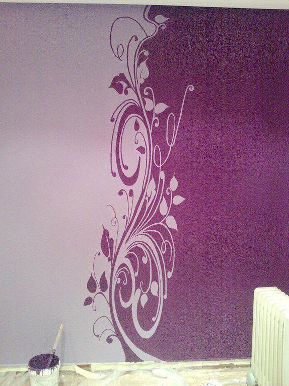 Decoraci n interior morado pintura lila salon 2 for Decoracion pintura salon