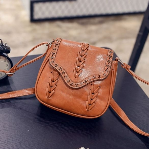 New Women Synthetic Leather Messenger Bag Weave Hollow Soft Flap Casual  Outdoor Shoulder Bag 2c5e3fe516d70