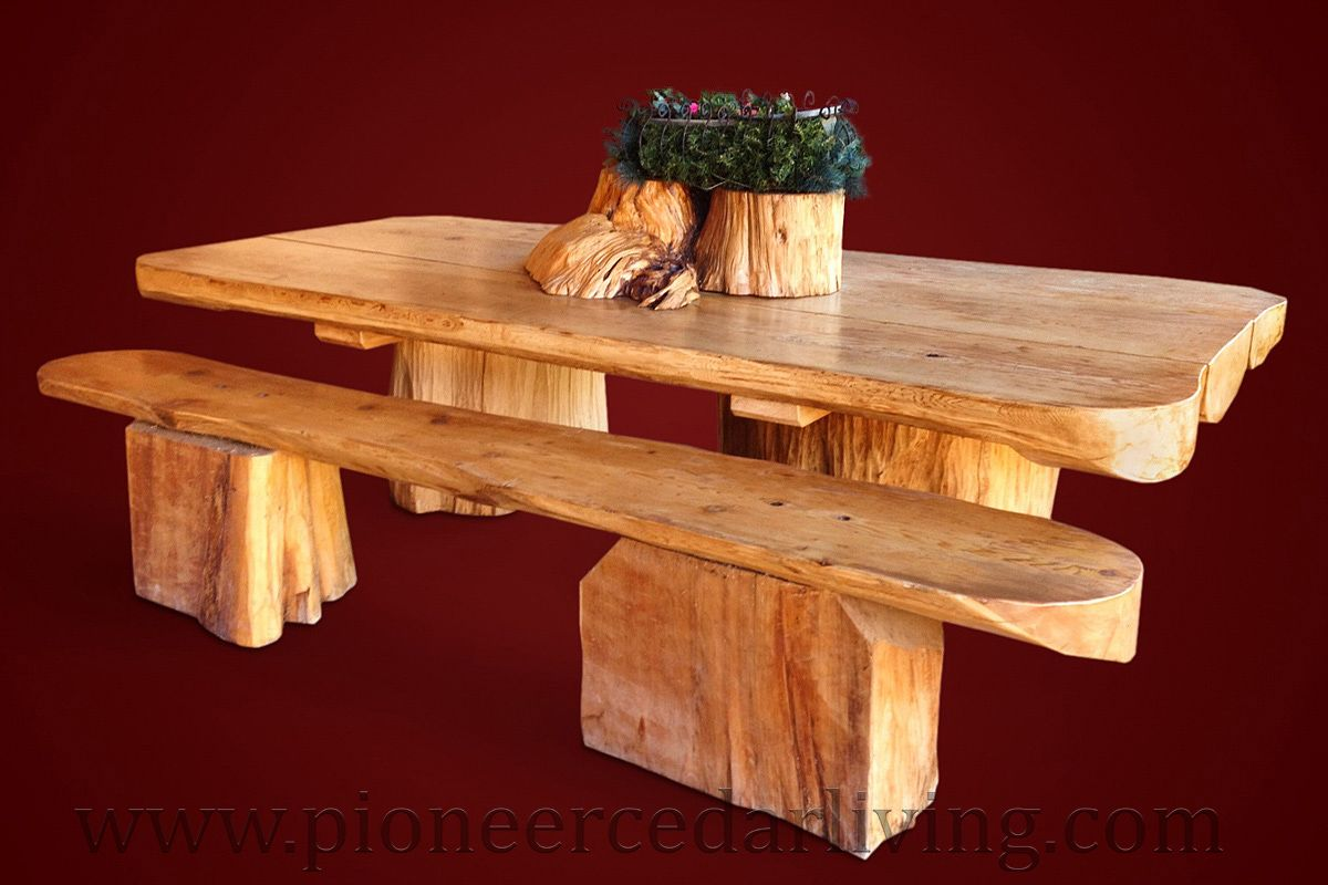Pleasant Cedar Picnic Table With Cedar Bench We Offer Beautiful And Creativecarmelina Interior Chair Design Creativecarmelinacom