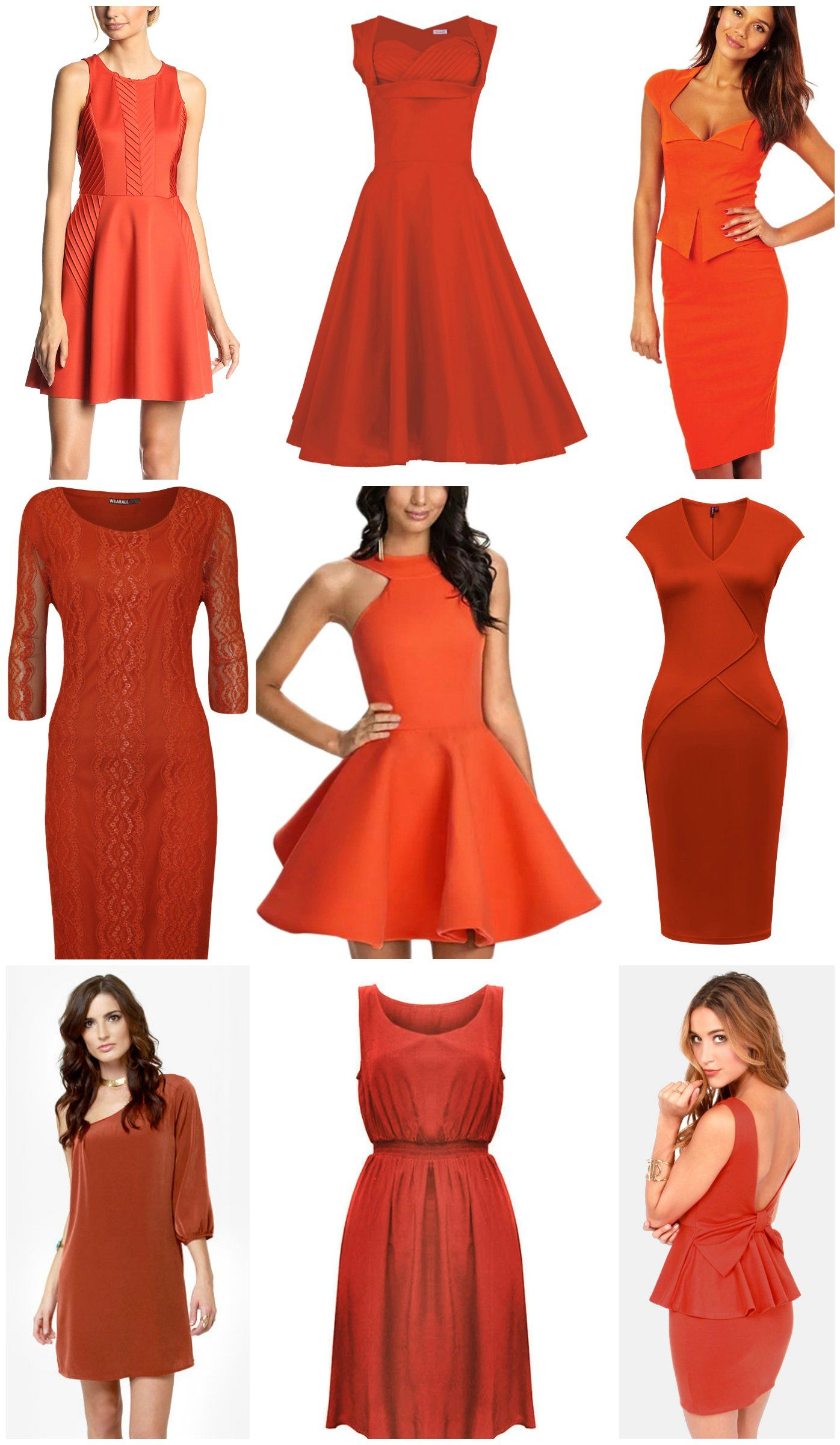 Burnt Orange Dresses Most From Amazon For Female Ushers Rustic