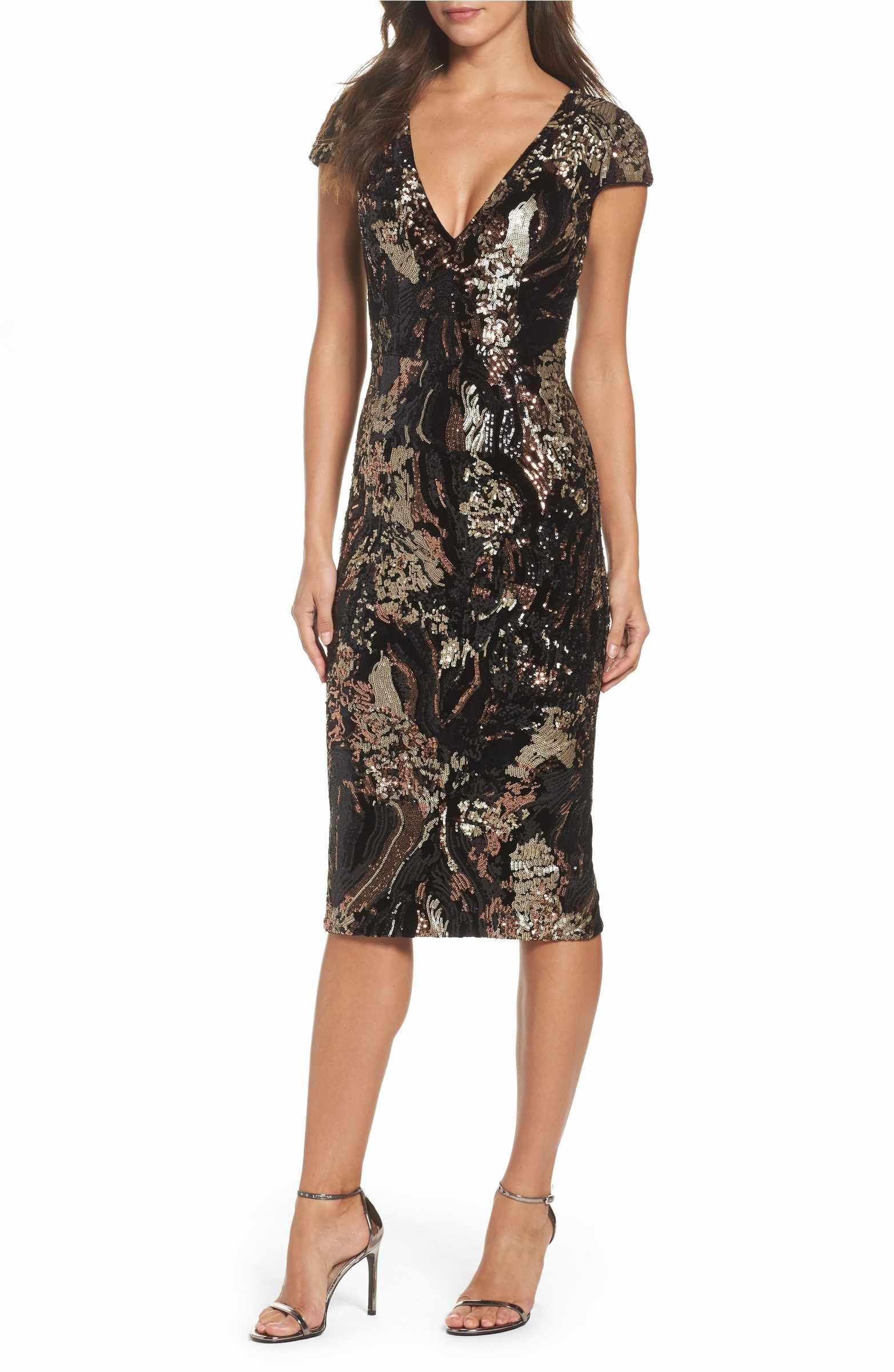 Allison Sequin Velvet Body-Con Dress | Body con, Sequins and Nordstrom