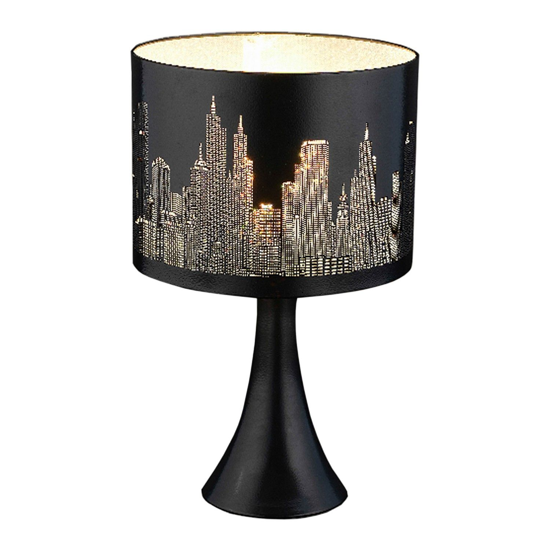 City Scene Black Touch Lamp