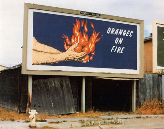 Oranges On Fire, 1975 – Mike Mandel and Larry Sultan