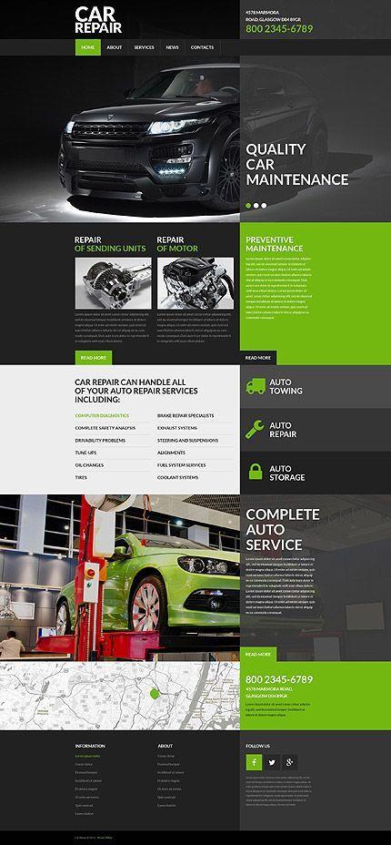 Template 52961 - Car Repair Responsive Website Template Está farto - car ad template