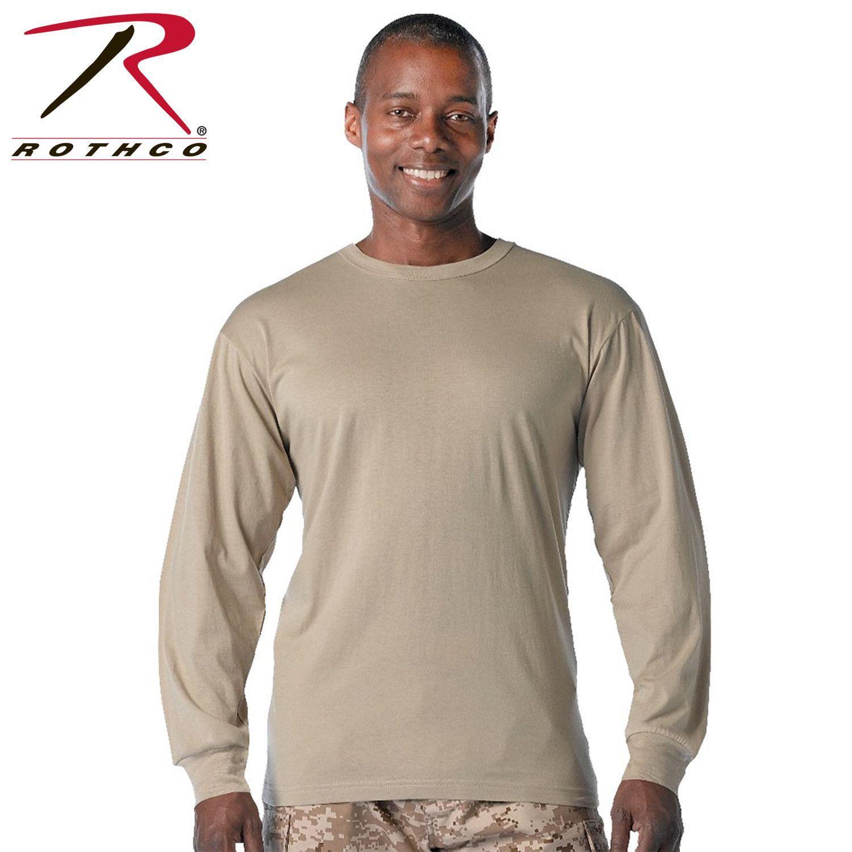 Rothco Long Sleeve Solid Cotton T-Shirt