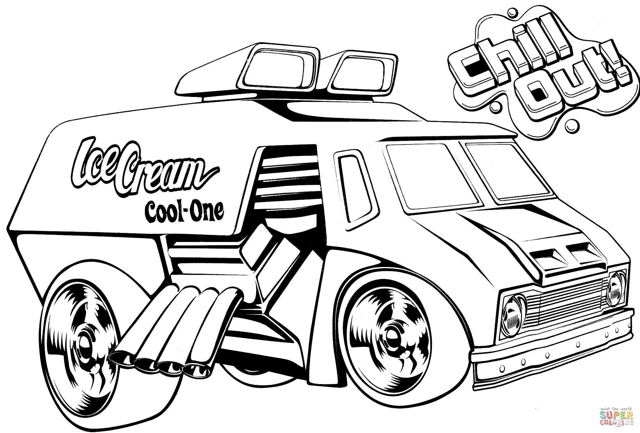 Fine Coloring Page Ice Cream Truck That You Must Know You Re In