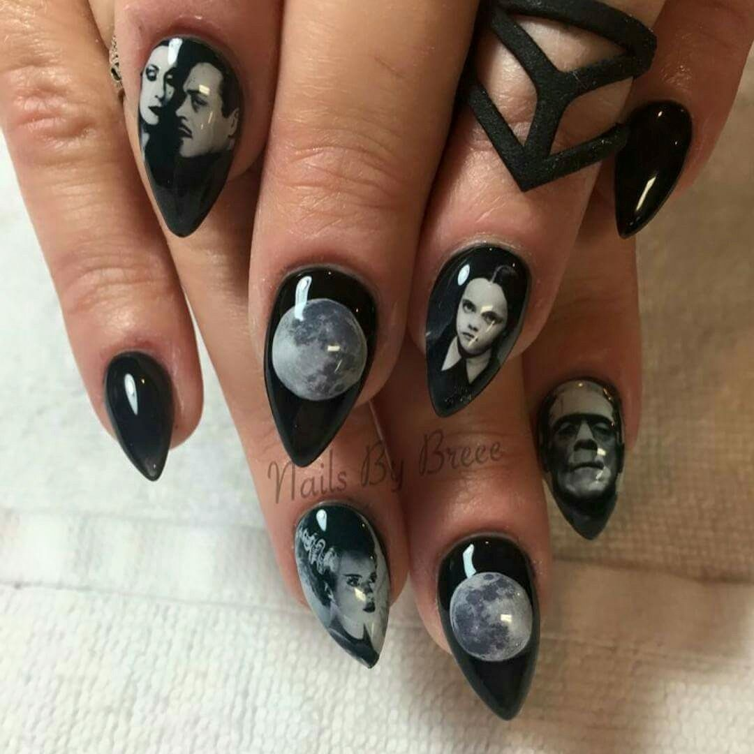 Adams family nails | trends | Pinterest | Adams family, American ...