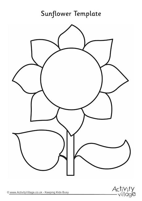 Sunflower Template   Appliqu    Sunflowers Template