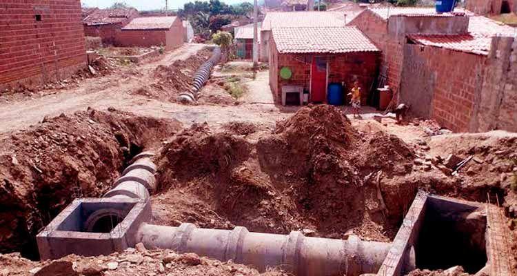 Saneamento básico e drenagem no bairro Nova Flores – a todo vapor