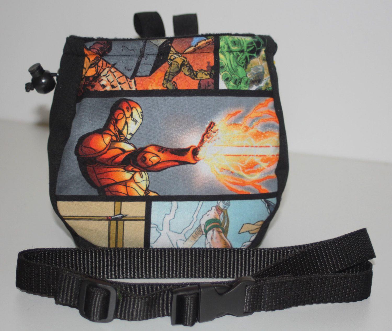 Marvel Chalk Bag Comic Book Rock Climbing Includes Belt Hooks And Brush Holder By Trails