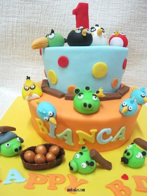 Mom Daughter Cakes Angry Bird Cakes For One Year Old Bianca