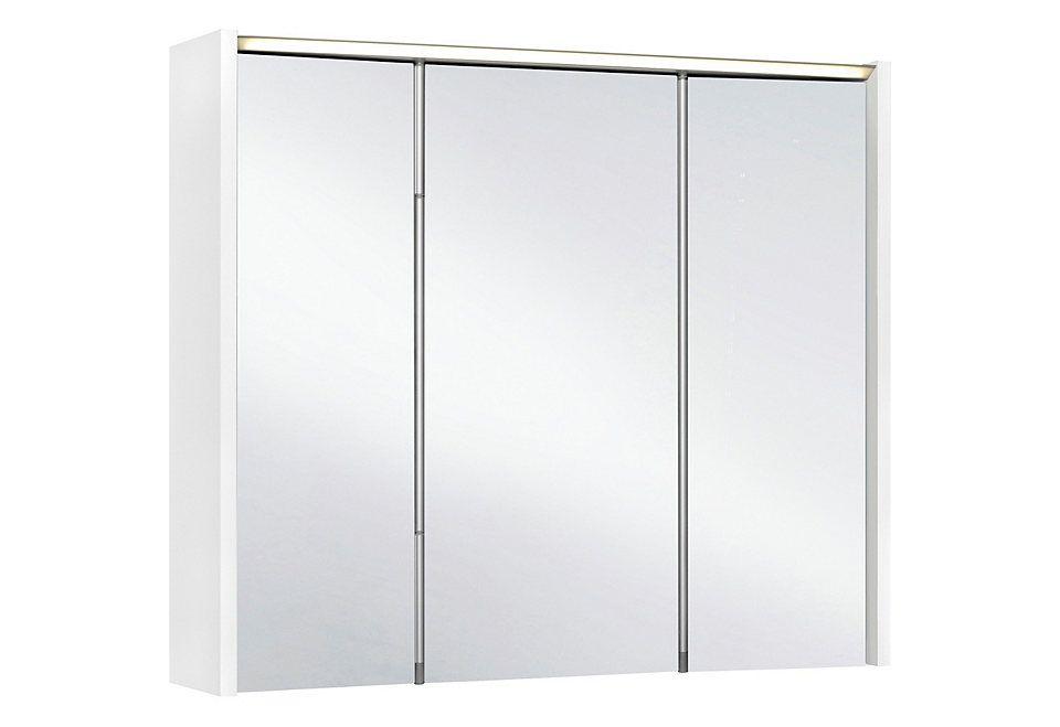 Bad Spiegelschrank mit LED Beleuchtung Eiche San Remo Jetzt