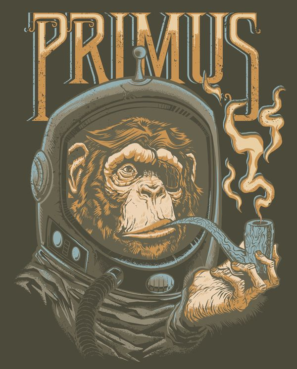 Primus Various Merch 2011 by Jeremy Packer, via Behance