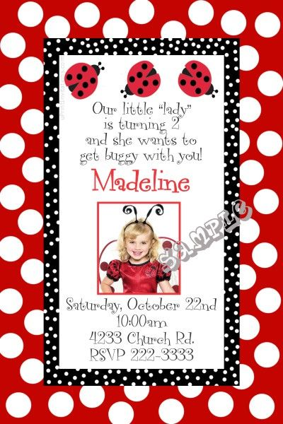 Ladybug Birthday Invitations Get these invitations RIGHT NOW