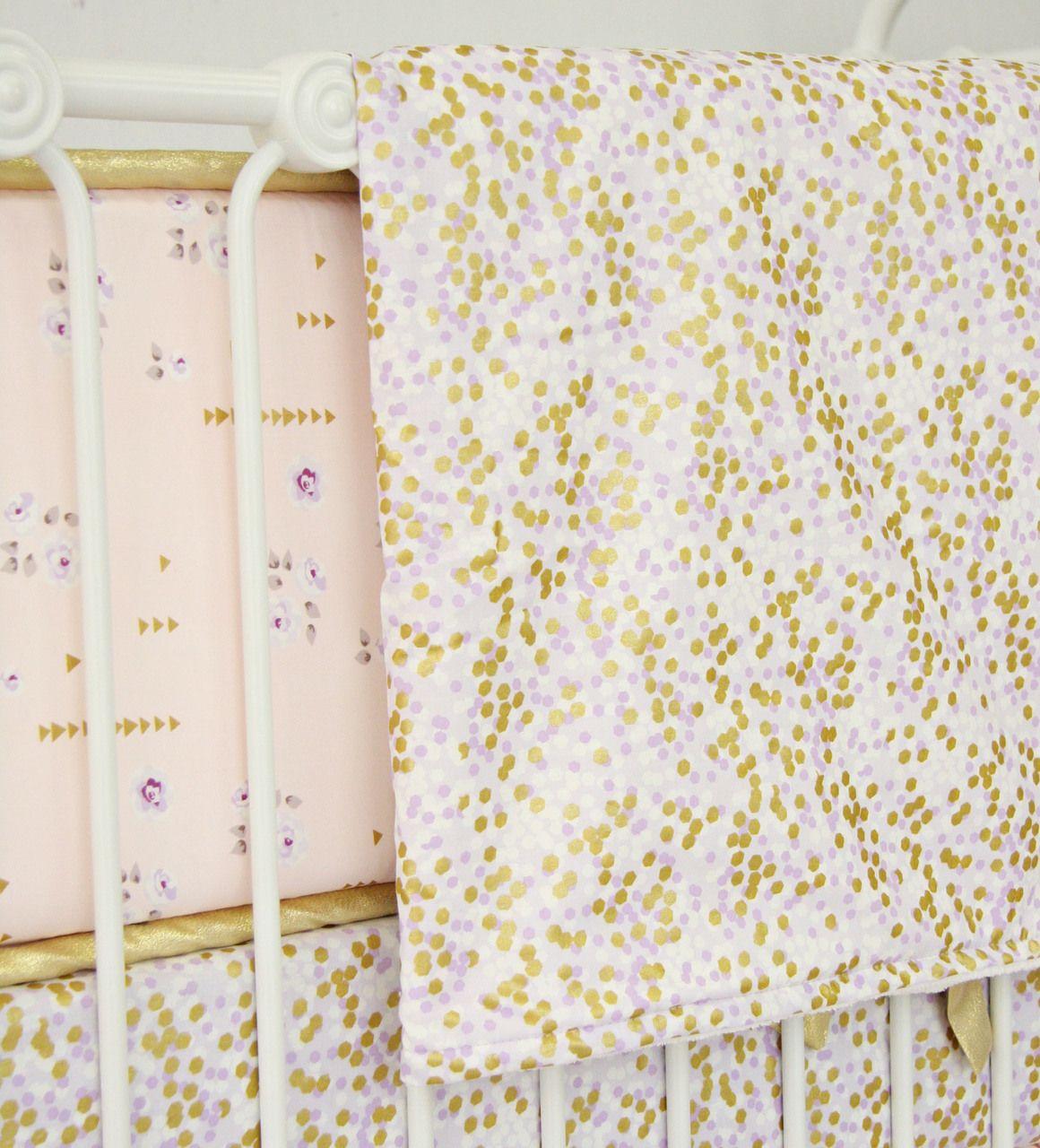 Lilac And Gold Sparkle Blanket Cadenlane Purplenursey