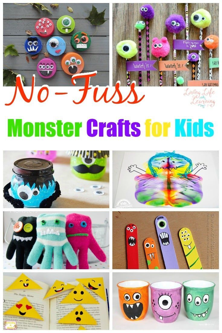 No-Fuss Monster Crafts for Kids They'll Love Any Time of Year