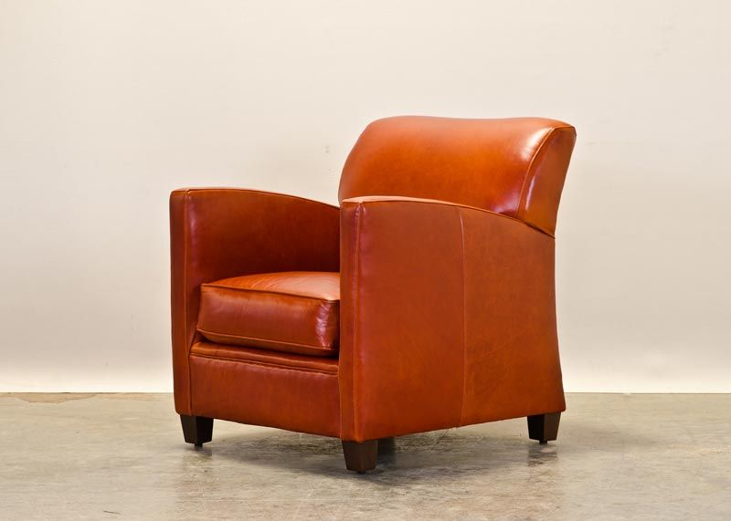 Küchensofa Orange Decades Furniture's Pegeen In Orange Leather. Made For ...
