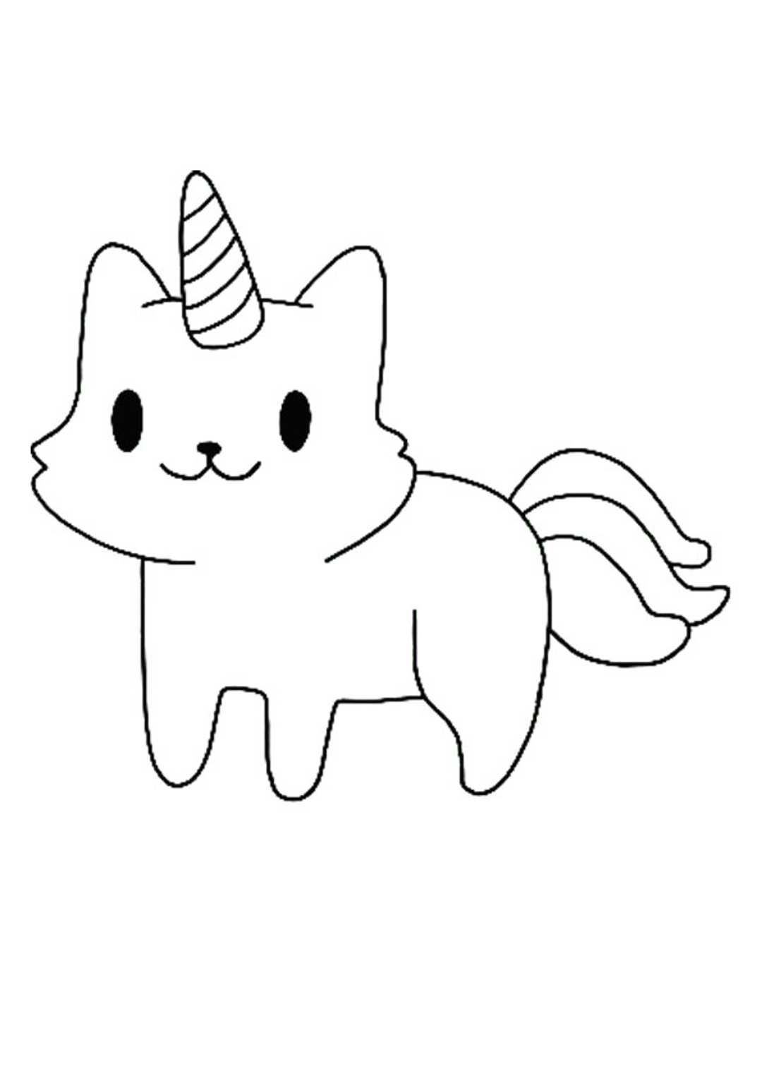 Cute Little Cat Unicorn Coloring Page Unicorn Coloring Pages Mermaid Coloring Pages Mandala Coloring Pages