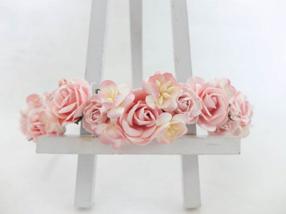 This beautiful flower crown is full of my favourite flowers which are roses, peonies, and cherry blossom. The cherry blossom colour is so unique as the