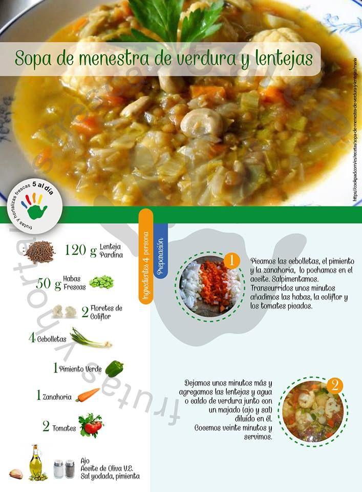 Sopa De Menestra De Verdura Y Lentejas Food Foodie Keto Soup
