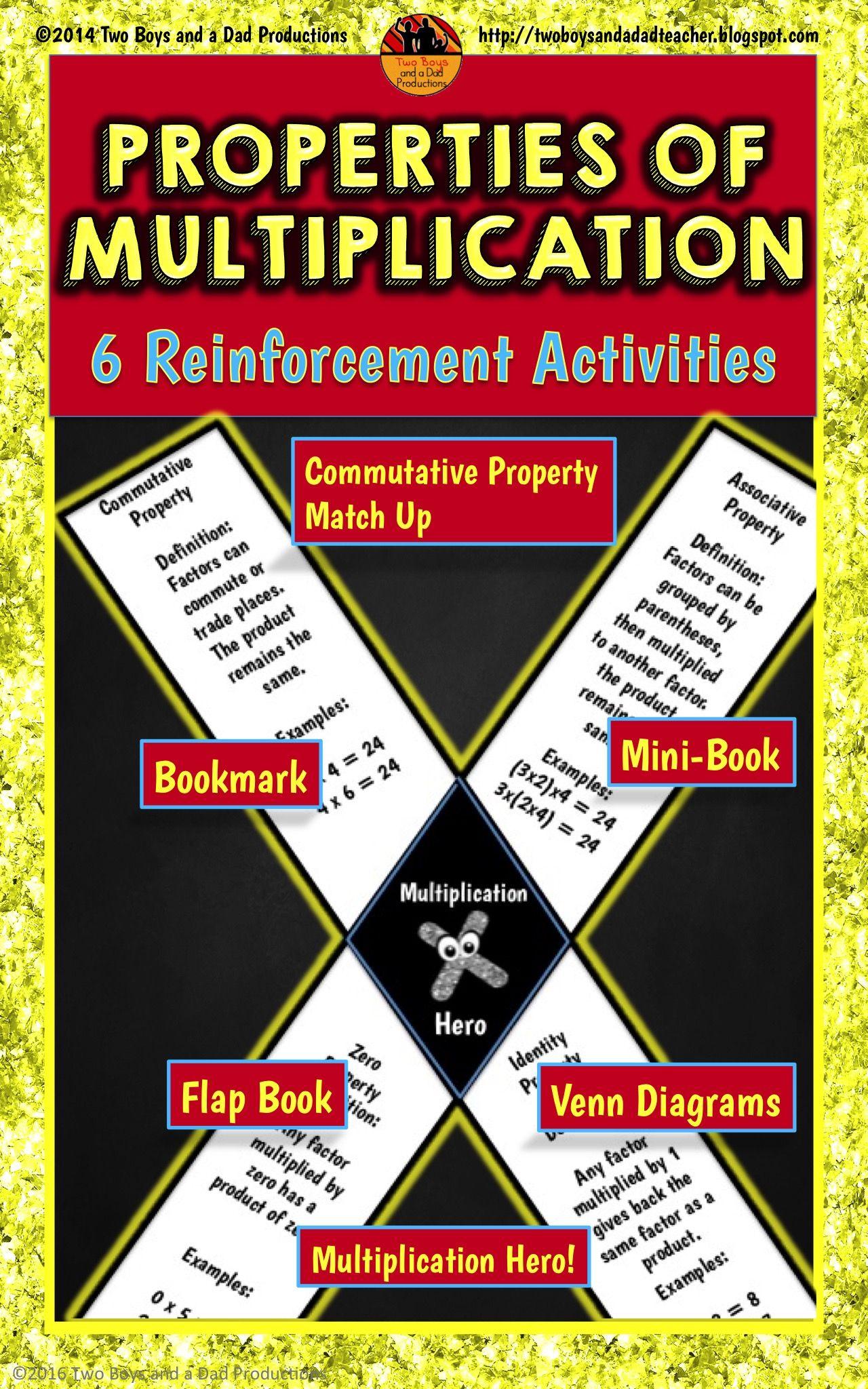 Properties Of Multiplication Practice Six Reinforcement