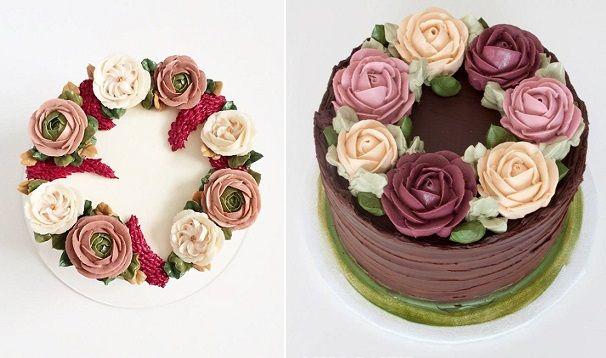 Buttercream Flowers Part 1 Cake Decorating Flowers Cake