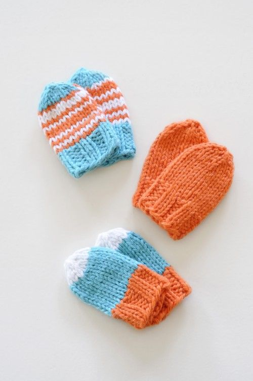 Baby Mitts by Susan B. Anderson. Free on the blog. | knitting ...
