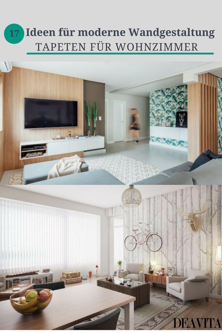 Mit dem passenden Muster können Tapeten für Wohnzimmer einen ganz ...