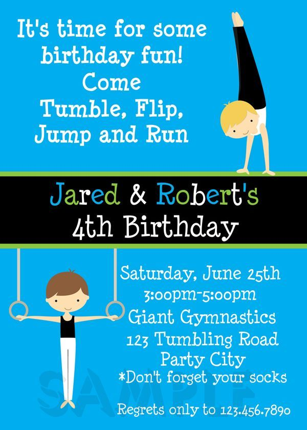 Printable Boy Birthday Invitation 3rd Cakes Themes For Boys Twin Parties
