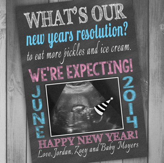 new years pregnancy announcement expecting announcement happy new year card baby announcement