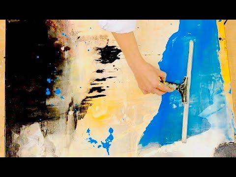 Abstrakte Malerei, Acryl, easy, simples Werkzeug, für
