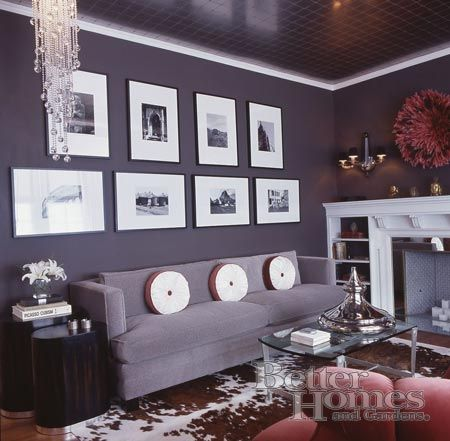 Don't be neutral on the subject of color. Plum Colored Living Room   Decor, Living room grey, Home decor