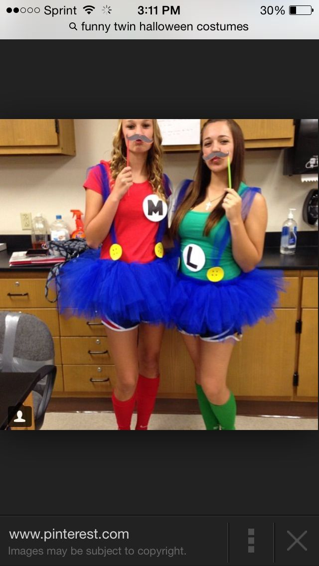 Cute Best Friend Halloween Costumes Funny.Cute Best Friend Mario And Luigi Halloween Costumes Great