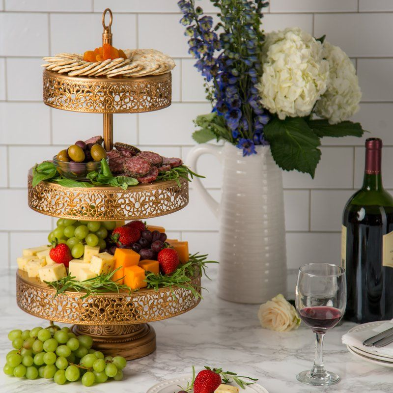 Davida Tiered Stand Food Display Tiered Dessert Stand Metal Cupcake Stand