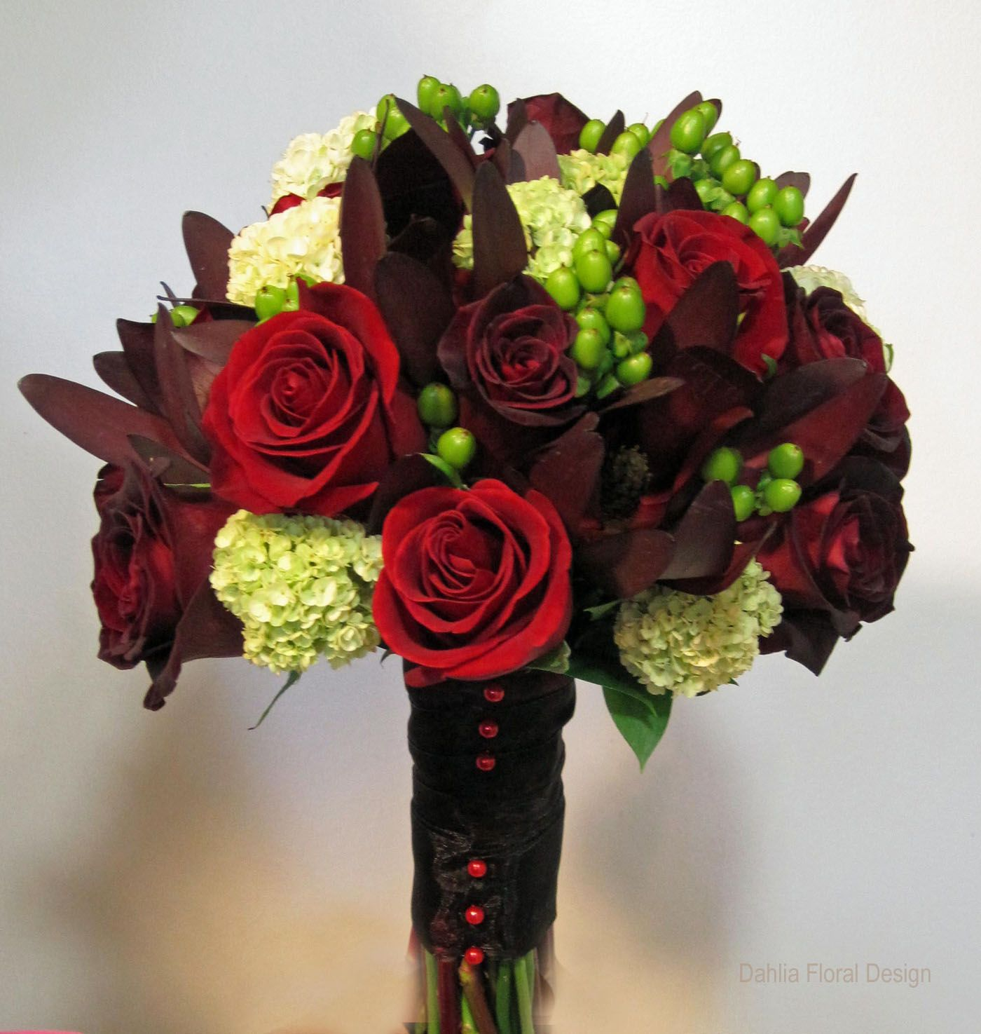 Red Burgundy Lime Green Bordeaux Colored Wedding Flower