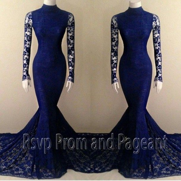 Lace Tight Fitted Formal Dresses