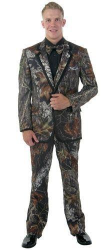 NEW Mens Mossy Oak Camo Tuxedo Vest Bow Tie FREE Hankie Wedding Deal Set