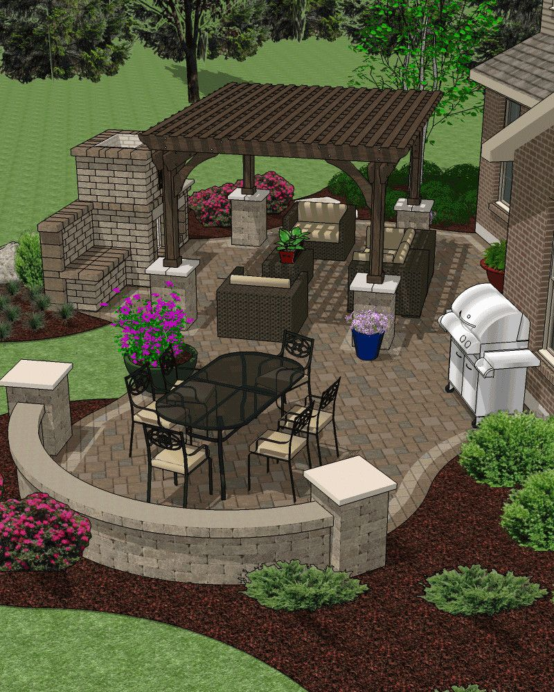 Patio & Hardscape Accessory Plans (With images ... on Garden Patio Designs And Layouts id=72260