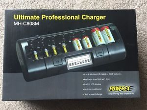 Maha Powerex Mh C808m Ultimate Pro Battery Charger Aa Aaa C D Nimh Nicd New Nib Ebay Nimh Battery Charger Charger