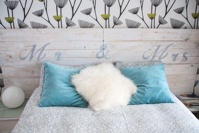como hacer un cabecero de palets | Capçals de llit | Pinterest ...