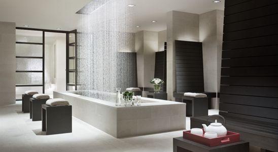 spa at 20 pine nyc.  design by armani casa