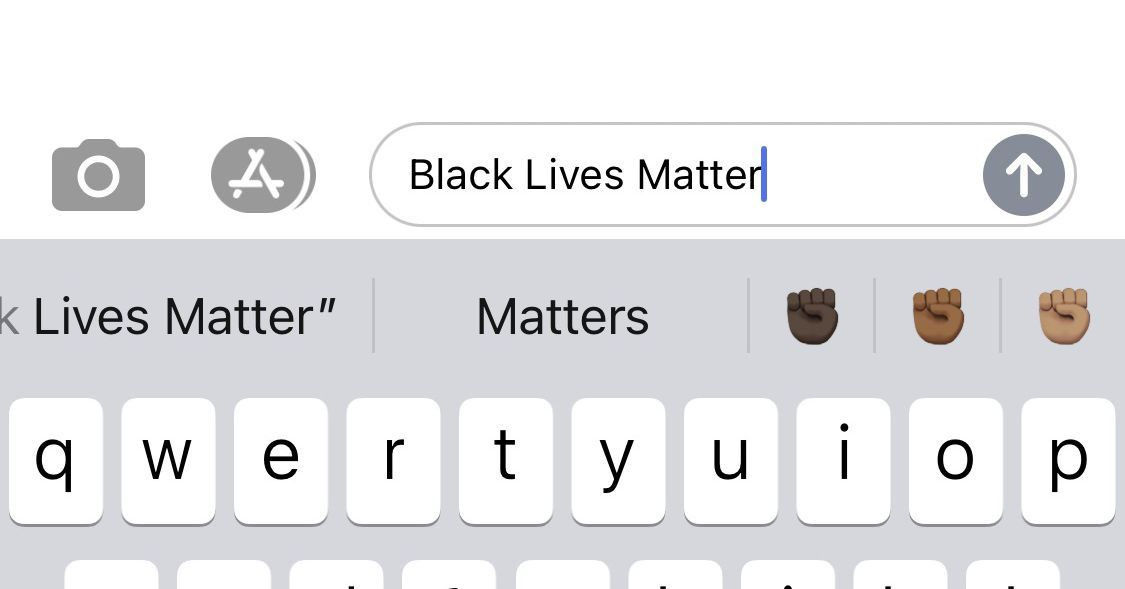The Ios Keyboard Now Suggests The Black Fist Emoji If You Type Black Lives Matter Or Blm In 2020 Lives Matter Black Fist Black Lives