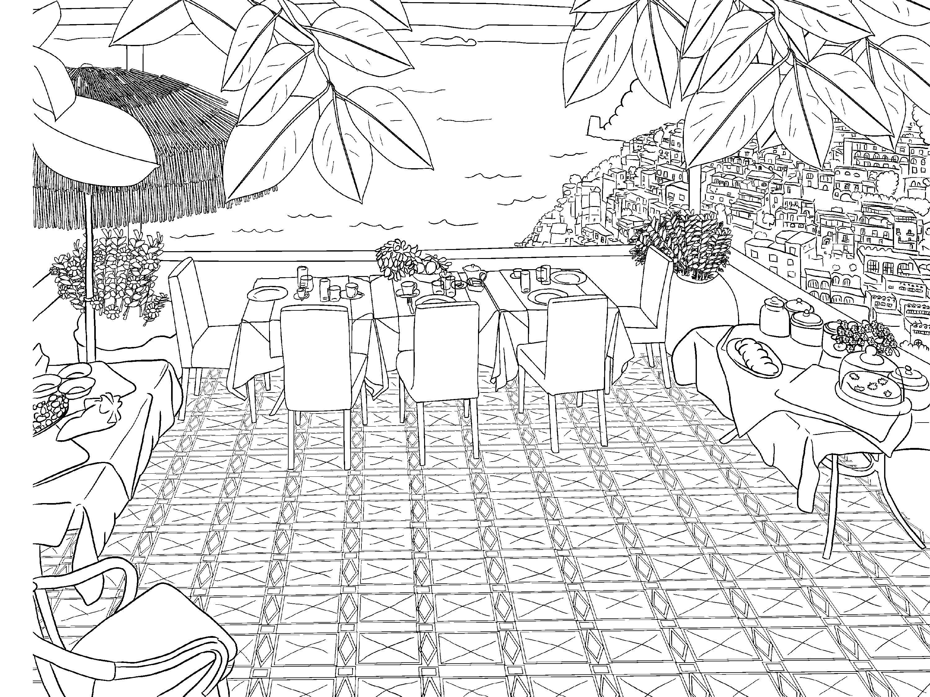 Beautiful Scenery Colouring Pages | Beautiful scenery, Scenery and ...