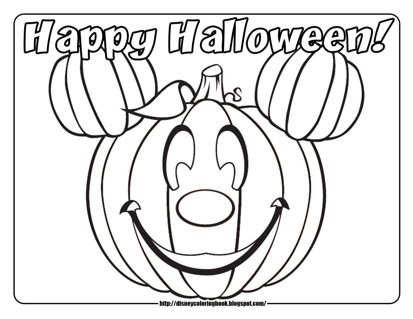 Halloween Coloring Pages Mickey PumpkinJPG 1320x1020 Pixels