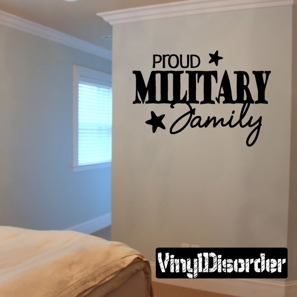 Proud Military Family Wall Decal - Vinyl Decal - Car Decal - Wall Quote - Mv001 & Proud Military Family Wall Decal - Vinyl Decal - Car Decal - Wall ...