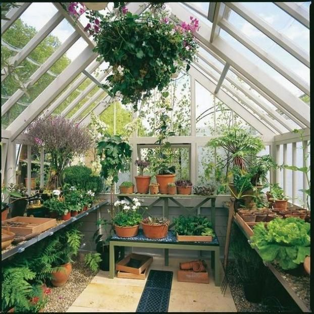 50 Awesome Attached Greenhouse Design Ideas #greenhouseideas ...