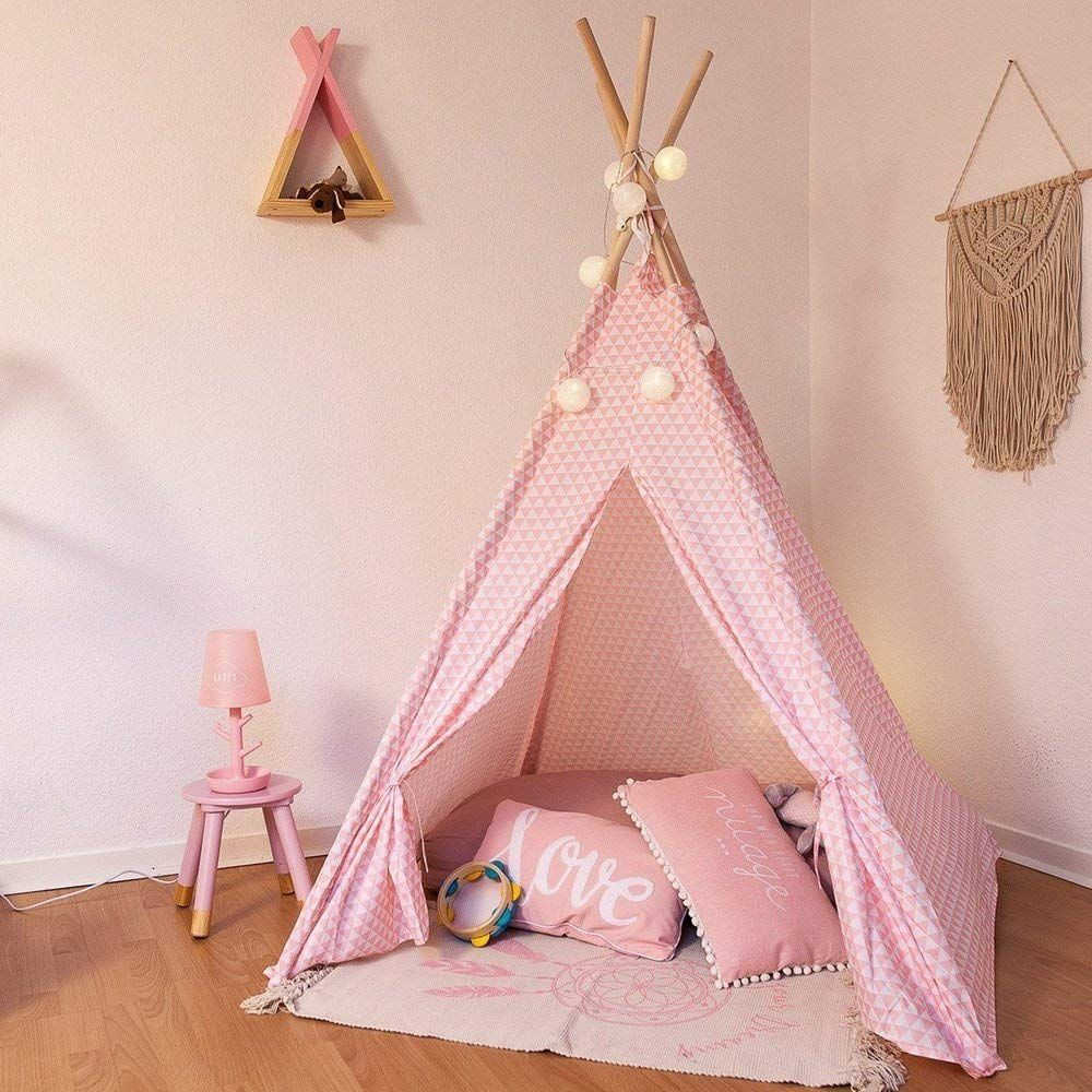 Teepee decoration for children H 160cm Pink Amazon.co